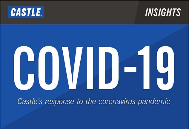 covid-19 graphic, Castle's response to the coronavirus pandemic