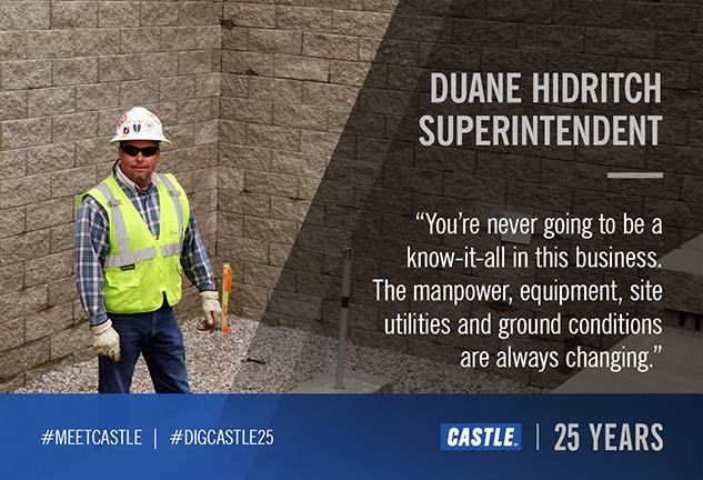 Duane Hidritch, Castle Contracting Superintendent