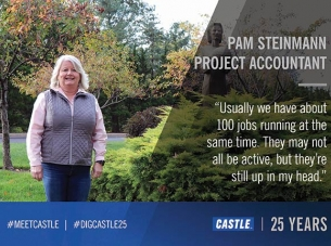 photo of pam steinmann with quote about Castle Accounting